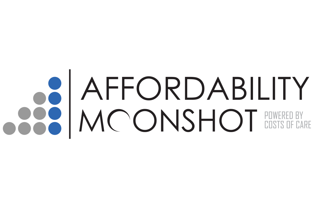 Affordability Moonshot Powered by Costs of Care Logo